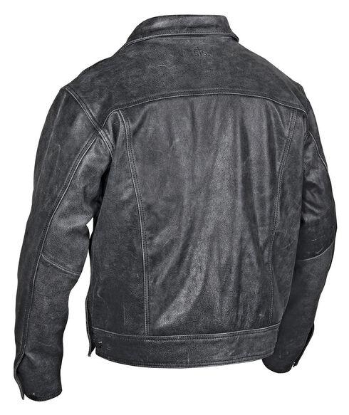 STS Ranchwear Men's Maverick Black Leather Jacket - Big & Tall - 4XL, Black, hi-res