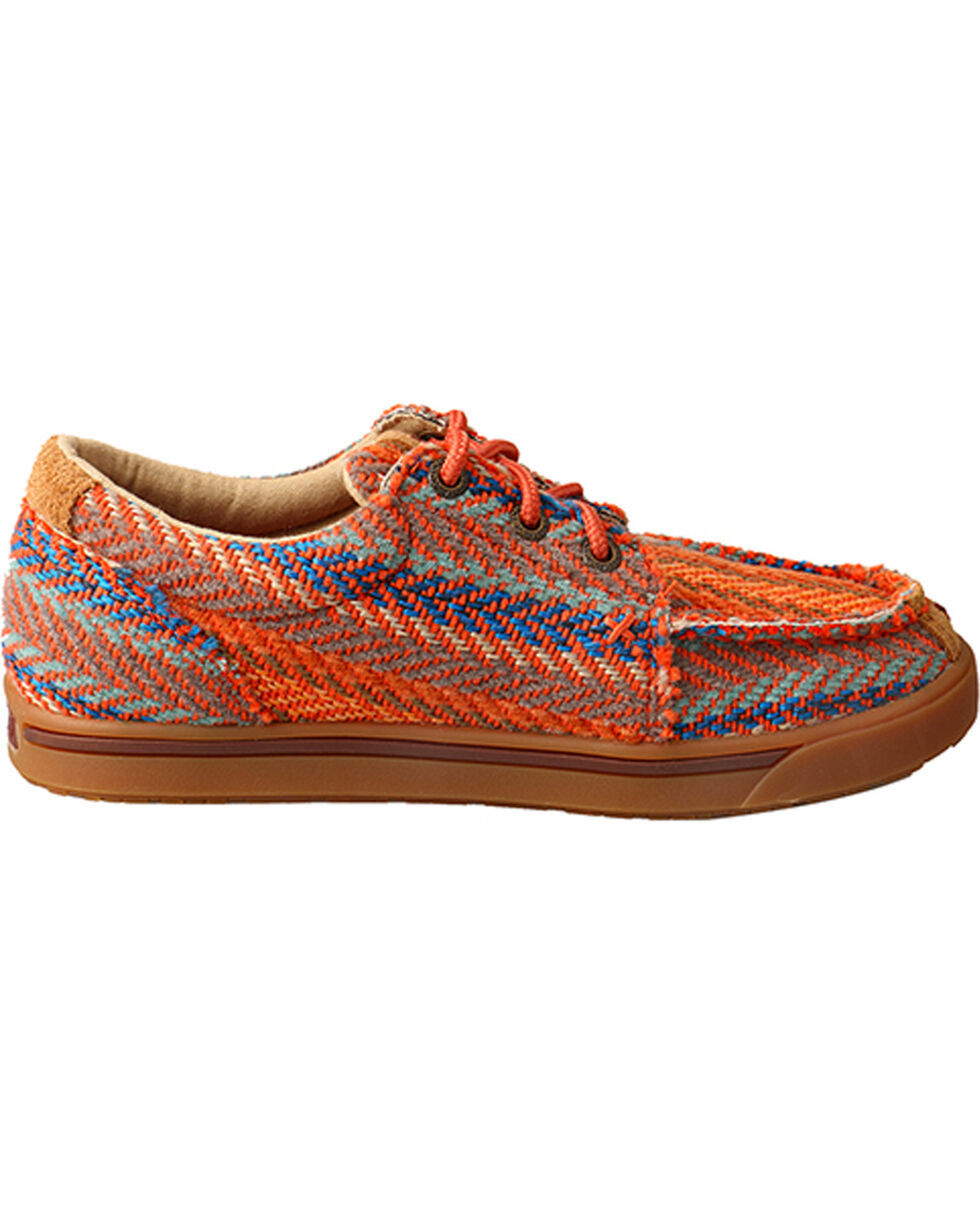 Twisted X Youth Girls' Tan Patterned Driving Shoes - Moc Toe , Multi, hi-res