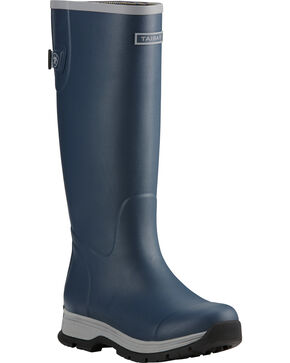 Ariat Women's Navy Fernlee Rubber Outdoor Boots, Navy, hi-res