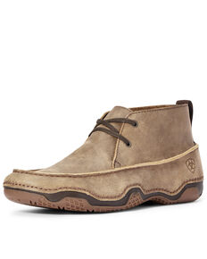 Ariat Men's Venturer Bomber Shoes - Moc Toe, Brown, hi-res