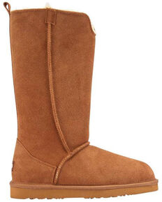 Lamo Women's Bellona Tall Boots - Round Toe, Chestnut, hi-res