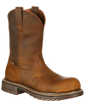 Rocky Men's Original Ride Roper Western Work Boots - Safety Toe, , hi-res