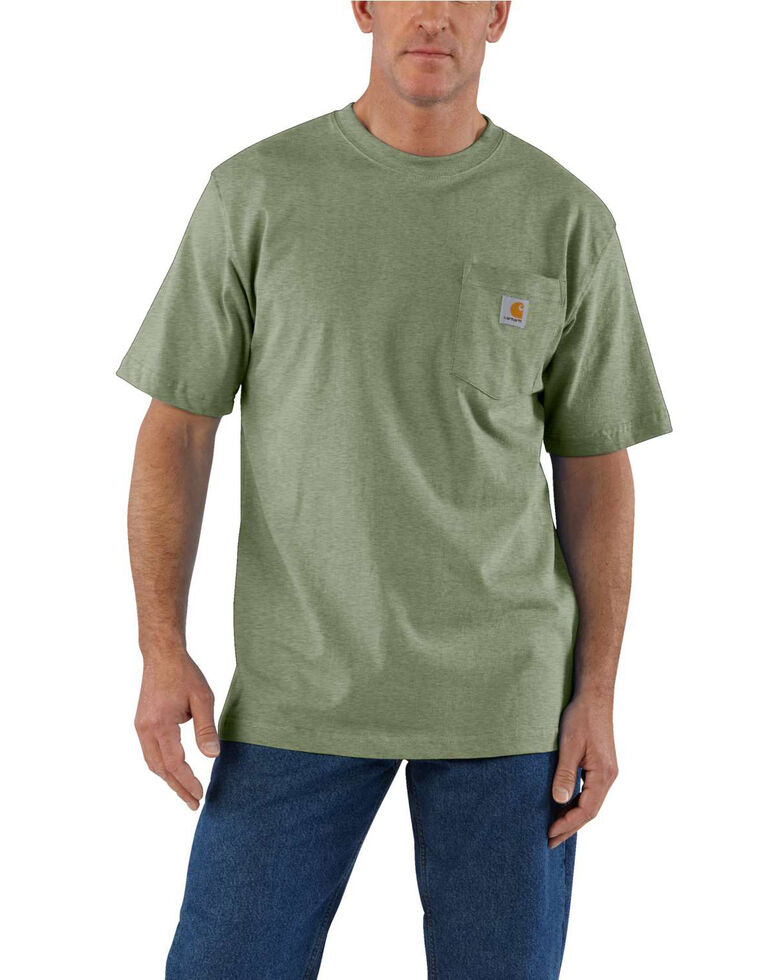 Carhartt Men's Workwear Pocket Short-Sleeve Work T-Shirt - Big , Olive, hi-res