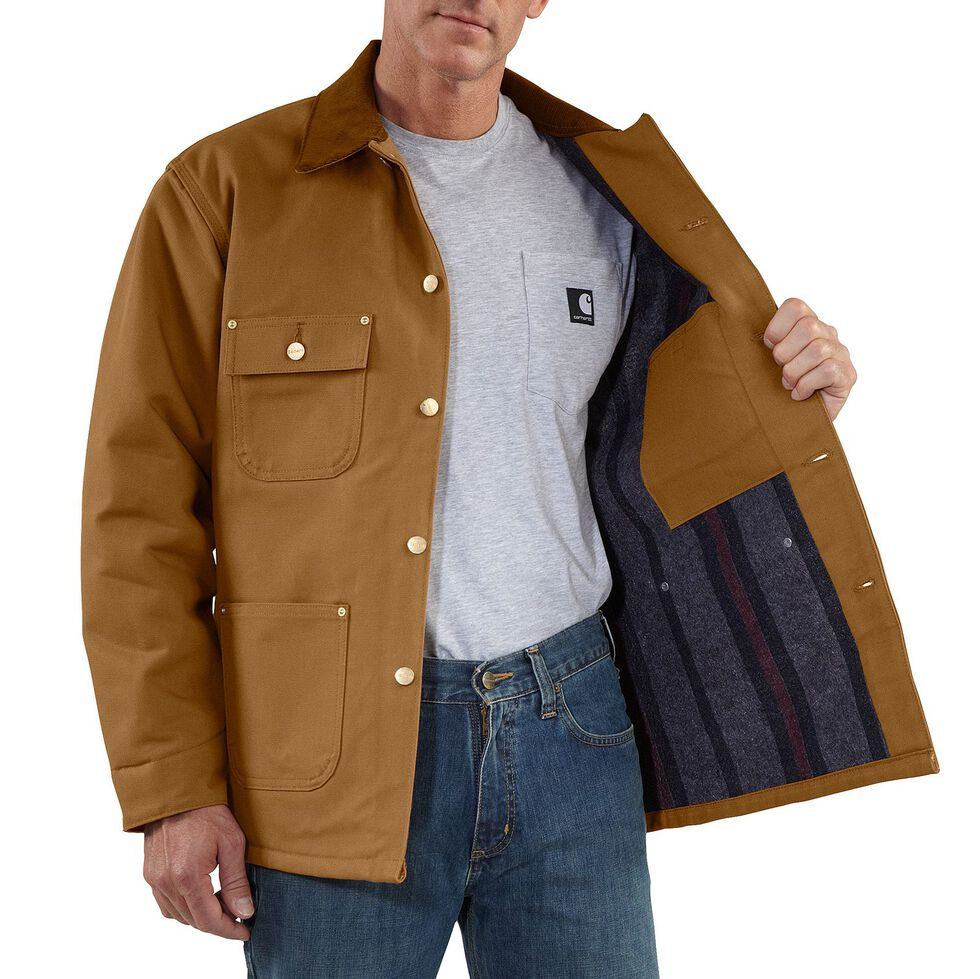 Carhartt Duck Chore Coat - Big & Tall, Brown, hi-res