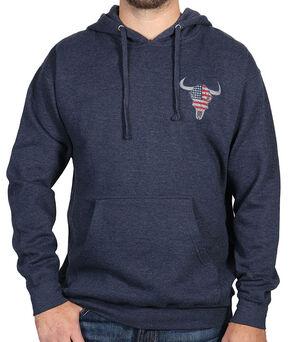 Cody James Men's Patriotic Skull Sweatshirt, Navy, hi-res
