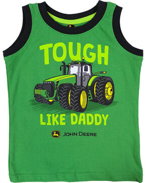 John Deere Toddler Boys' Green Tough Like Daddy Muscle Tee , Green, hi-res