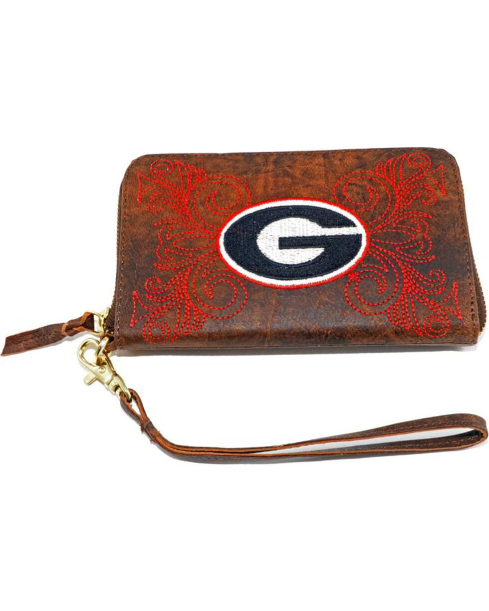 Gameday Boots University of Georgia Leather Wristlet, Brass, hi-res