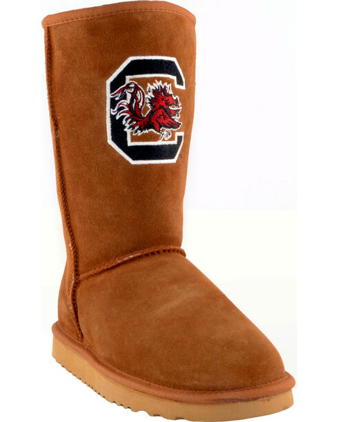 Gameday Boots Women's University of South Carolina Lambskin Boots, Tan, hi-res