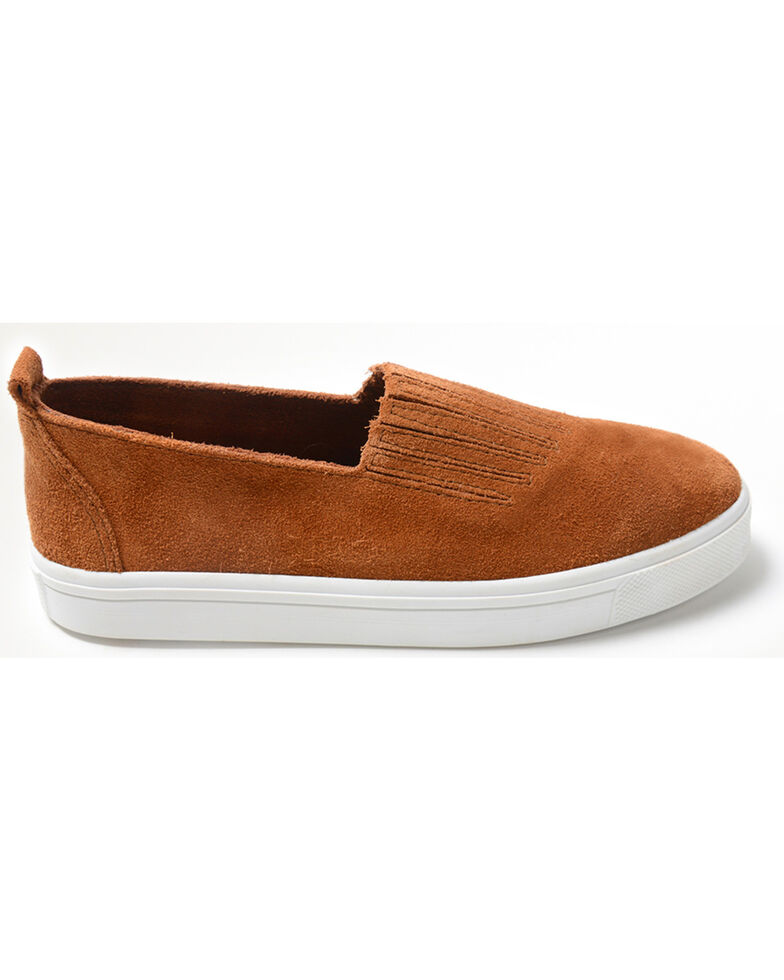 Minnetonka Women's Gabi Slip On Shoes - Round Toe, Brown, hi-res