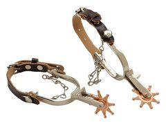Kids' Little Outlaw Toy Spurs, Tan, hi-res