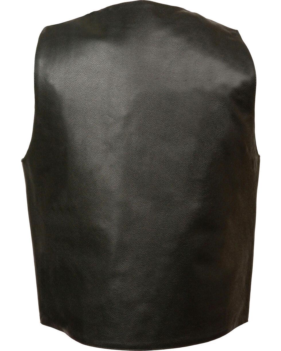 Milwaukee Leather Men's Buffalo Snap Plain Side Vest - 5X, Black, hi-res