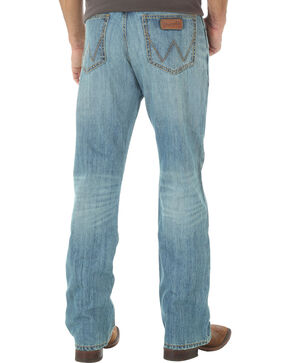Wrangler Retro Relaxed Fit Light Wash Boot Cut Jeans - Big and Tall, Indigo, hi-res