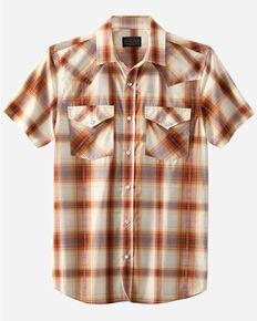 Pendleton Men's Multi Frontier Large Plaid Short Sleeve Snap Western Shirt , Multi, hi-res
