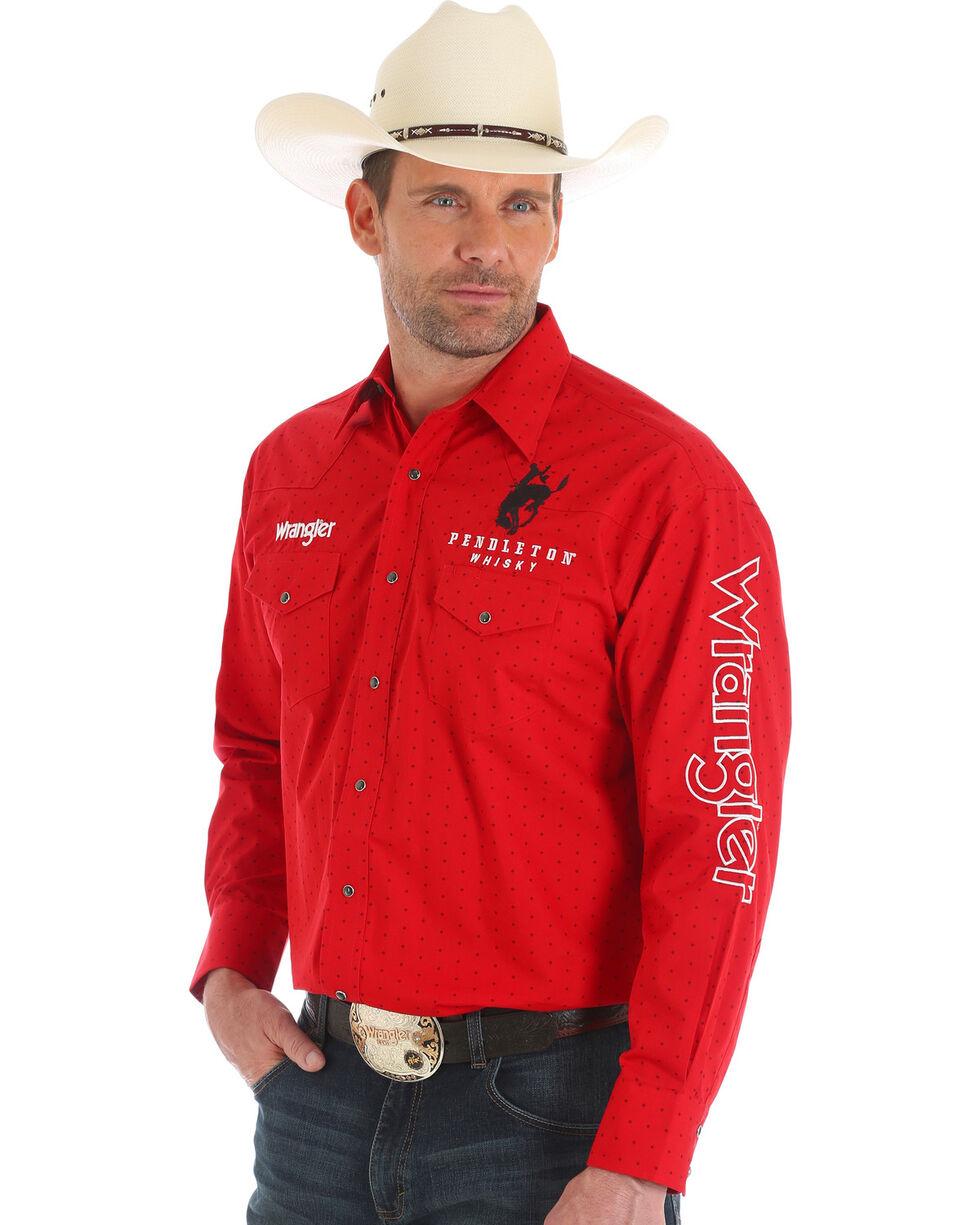 Wrangler Men's Pendleton Whiskey Logo Shirt, Red, hi-res