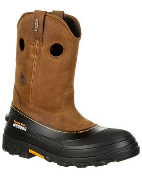 Georgia Boot Men's Muddog Waterproof Work Boots - Composite Toe, Gold, hi-res