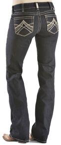 Ariat Women's R.E.A.L. Chainlink Bootcut Jeans, Denim, hi-res