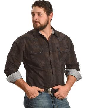 Moonshine Spirit Men's Long Sleeve Paisley Western Shirt, Brown, hi-res