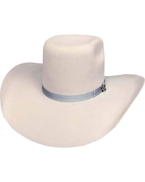 Bullhide Men's Chute Boss Silverbelly 8X Fur Cowboy Hat, Silver Belly, hi-res