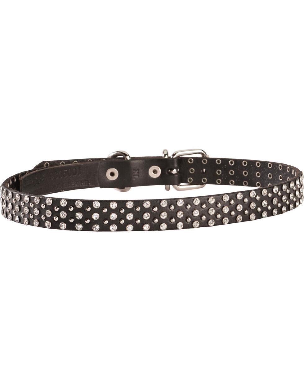 Blazin Roxx Studded Rhinestone Dog Collar - S-XL, Black, hi-res