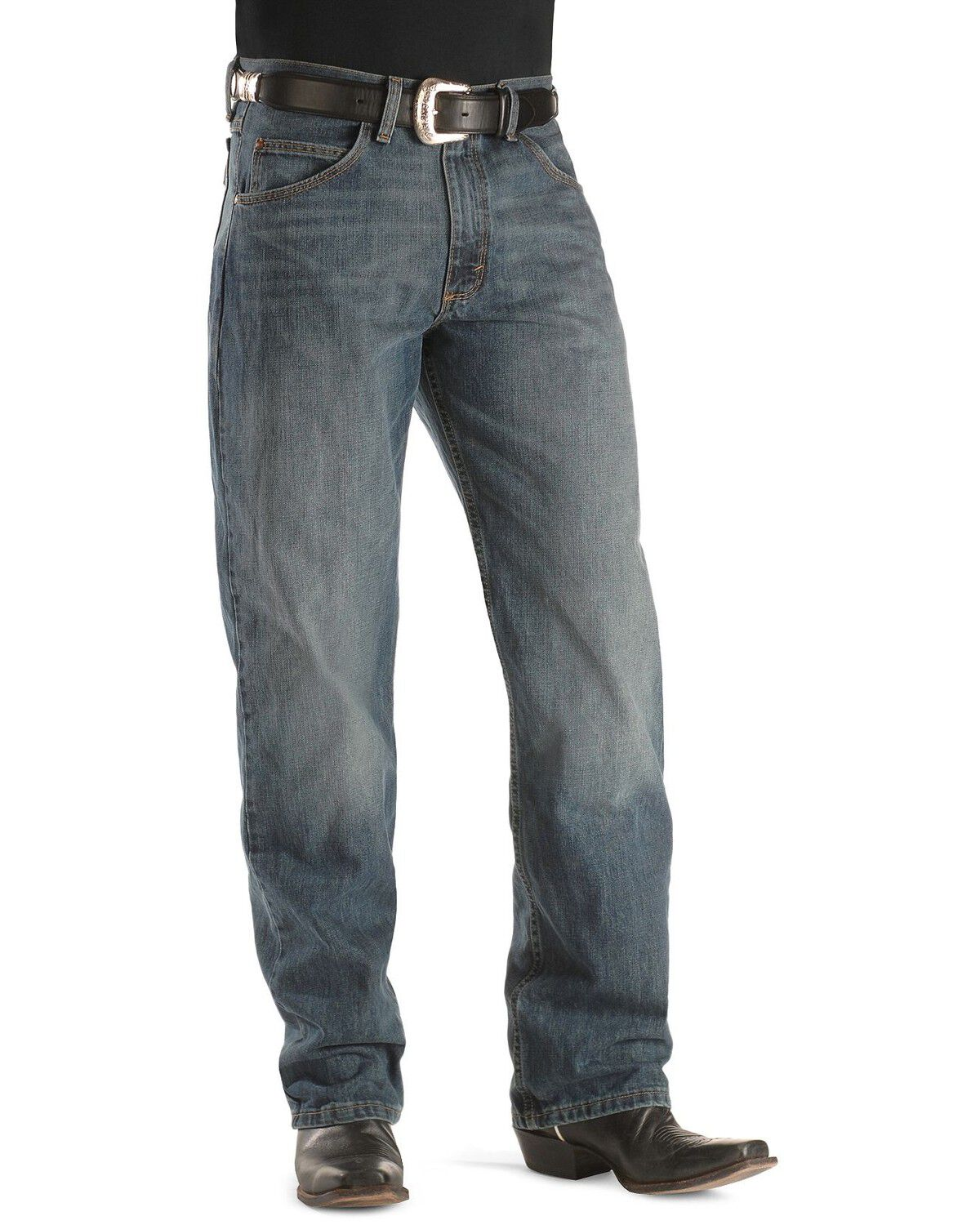 Wrangler Mens Rustic Blue 20X Competition Shirt Blue Small