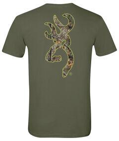 Browning Men's Realtree Xtra Buckmark Green Short Sleeve Tee, Green, hi-res
