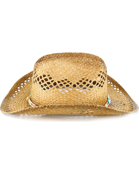 Shyanne Women's Beaded Straw Hat , Natural, hi-res