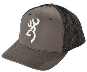Browning Charcoal Grey Buckmark Flex Fit Cap - L/XL, Charcoal Grey, hi-res