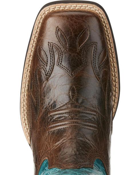 Ariat Women's Chocolate Sidekick Western Boots - Square Toe , Chocolate, hi-res