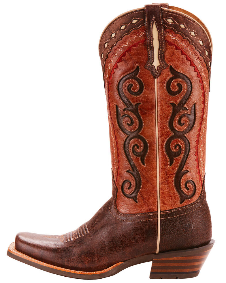 Ariat Women's Cowtown Cutter Scroll Inlay Performance Cowgirl Boots - Square Toe, , hi-res