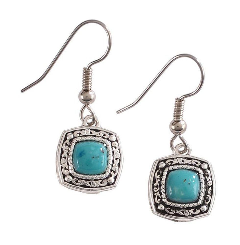 Montana Silversmiths Blue Earth Drop Earrings, Silver, hi-res