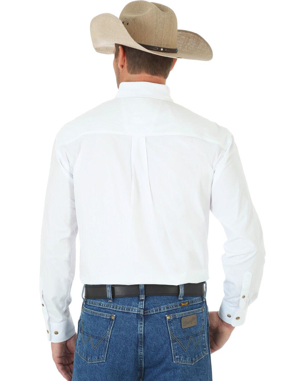 George Strait by Wrangler Men's White Long Sleeve Shirt - Tall, , hi-res