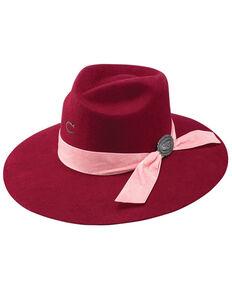Charlie 1 Horse Women's Burgundy Lady Bandit Felt Western Hat, Burgundy, hi-res