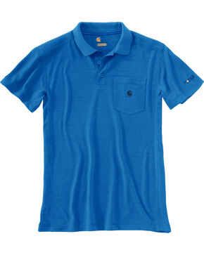 Carhartt Men's Force Extremes Pocket Polo , Blue, hi-res