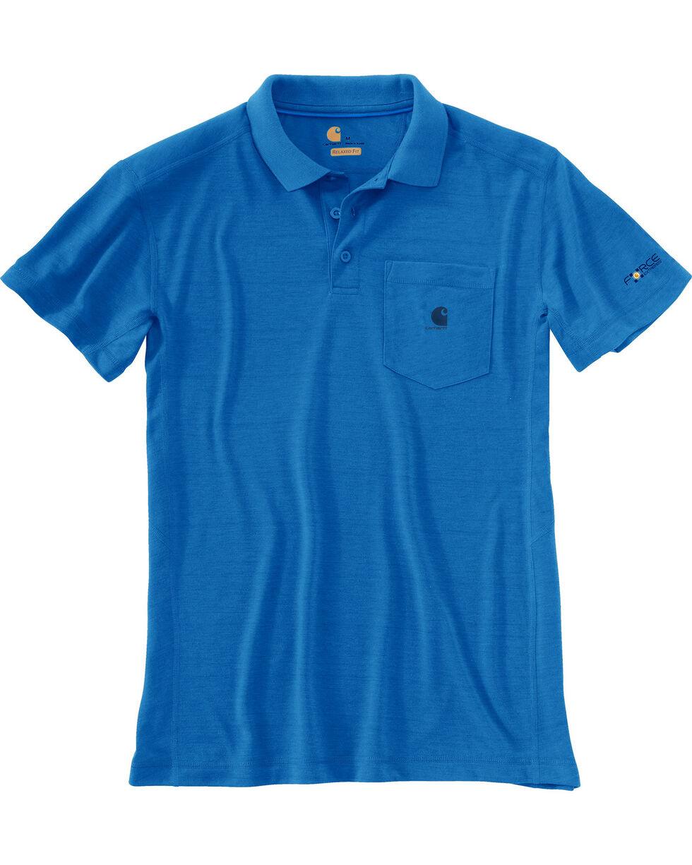 Carhartt Men's Force Extremes Pocket Polo , Blue, hi-res