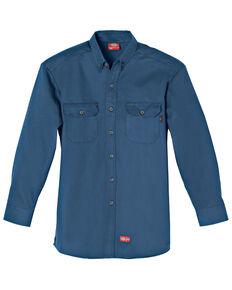 Dickies Flame Resistant Twill Work Shirt, Navy, hi-res