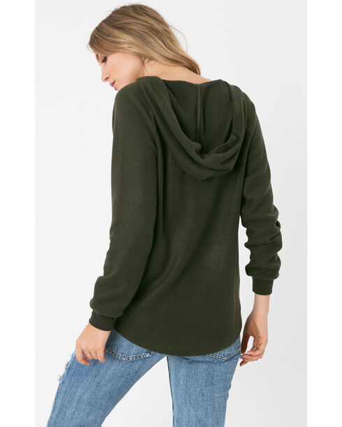 Z Supply Women's Rosin The Loft Hoodie , Olive, hi-res