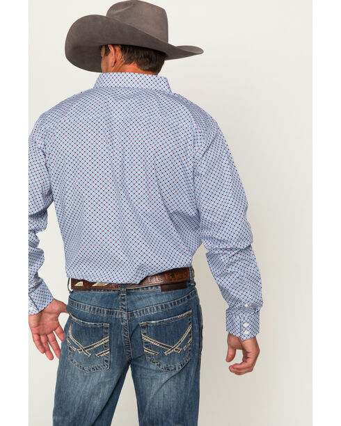 Cody James Men's Tucson Geo Print Long Sleeve Shirt, Blue, hi-res