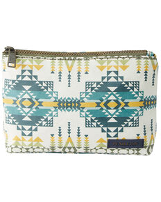 Pendleton Women's Pilot Rock Olive Zip Pouch, White, hi-res
