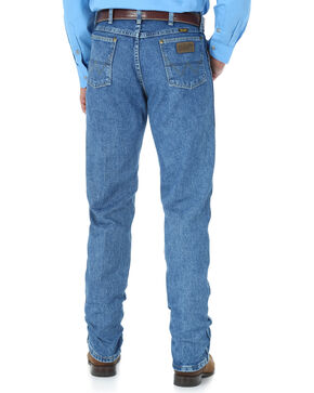 George Strait by Wrangler Men's Blue Cowboy Cut Jeans - Straight Leg , Medium Blue, hi-res