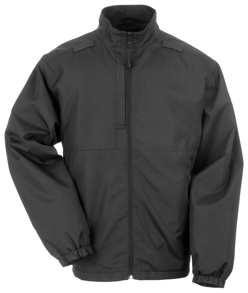 5.11 Tactical Lined Packable Jacket, Black, hi-res