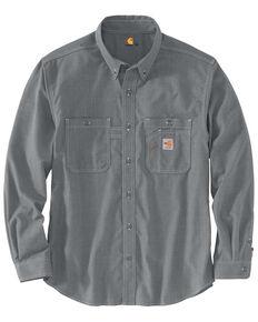 Carhartt Men's FR Force LW Performance Woven Long Sleeve Work Shirt , Grey, hi-res