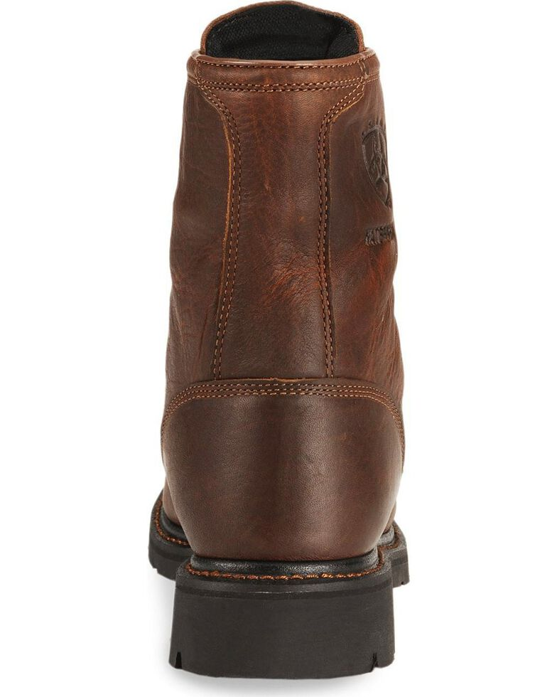 "Ariat Waterproof Cascade H20 8"" Lace-Up Work Boots - Round Soft Toe, Sunshine, hi-res"
