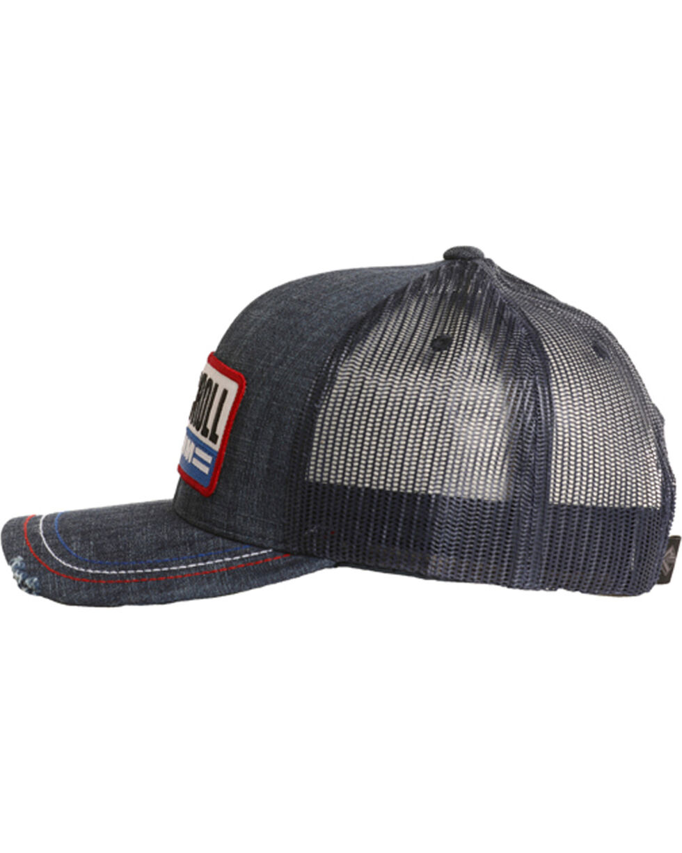 Rock & Roll Cowboy Men's Patch Snap Back Cap, Red/white/blue, hi-res