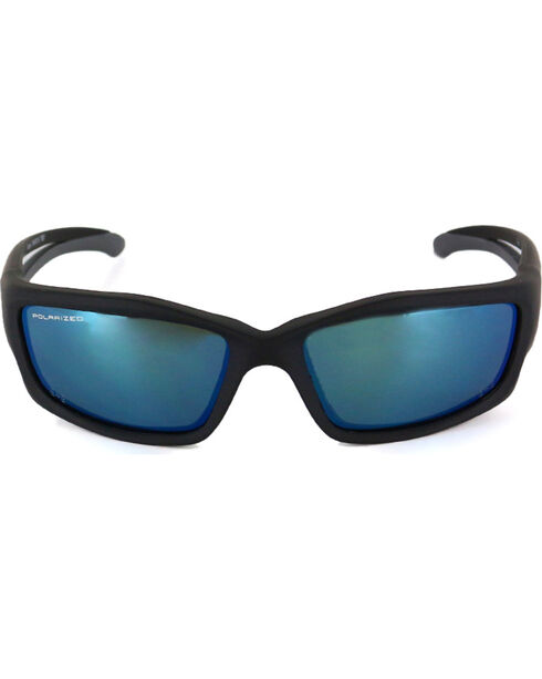 Edge Eyewear Kazbek Polarized Aqua Precision Safety Sunglasses, Black, hi-res