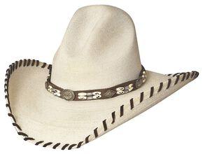 Bullhide The Last Chief Panama Straw Cowboy Hat, Natural, hi-res