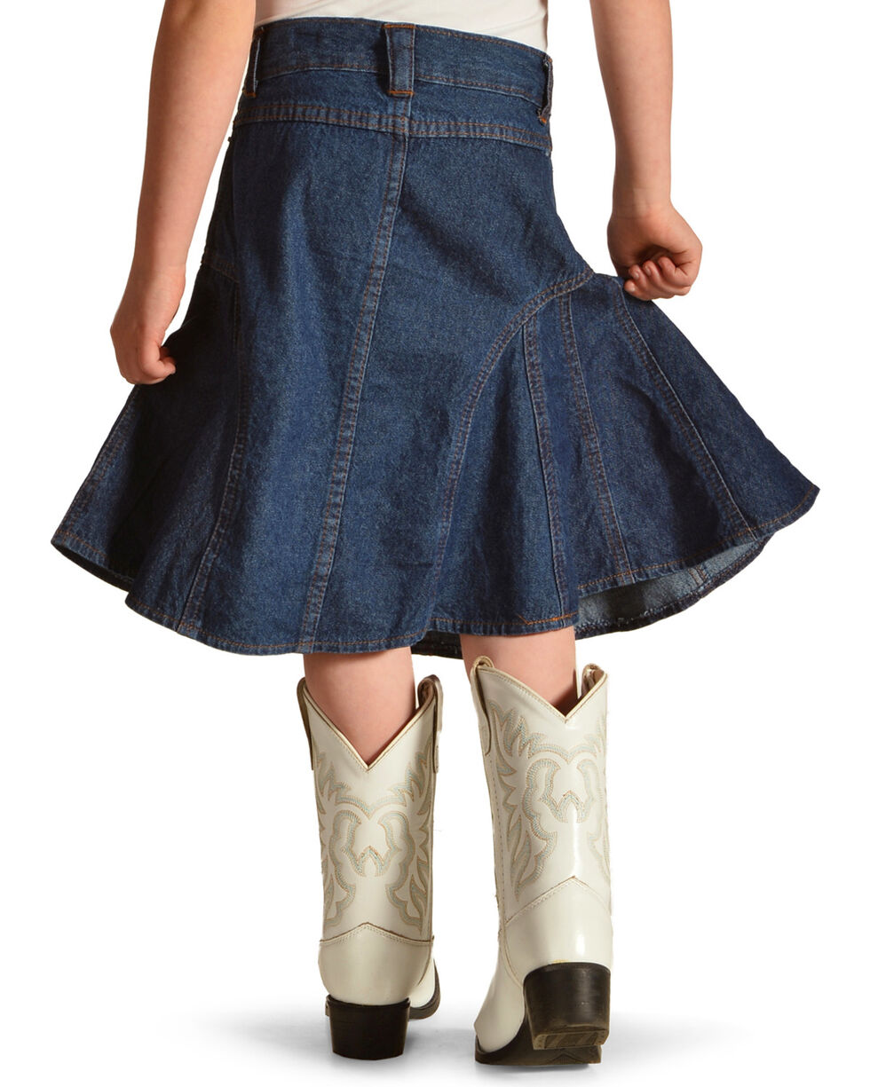 Crazy Cowboy Girls' Denim Skirt , Indigo, hi-res