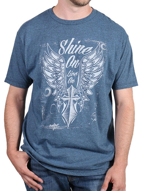 Moonshine Spirit Men's Shine On T-Shirt, Indigo, hi-res