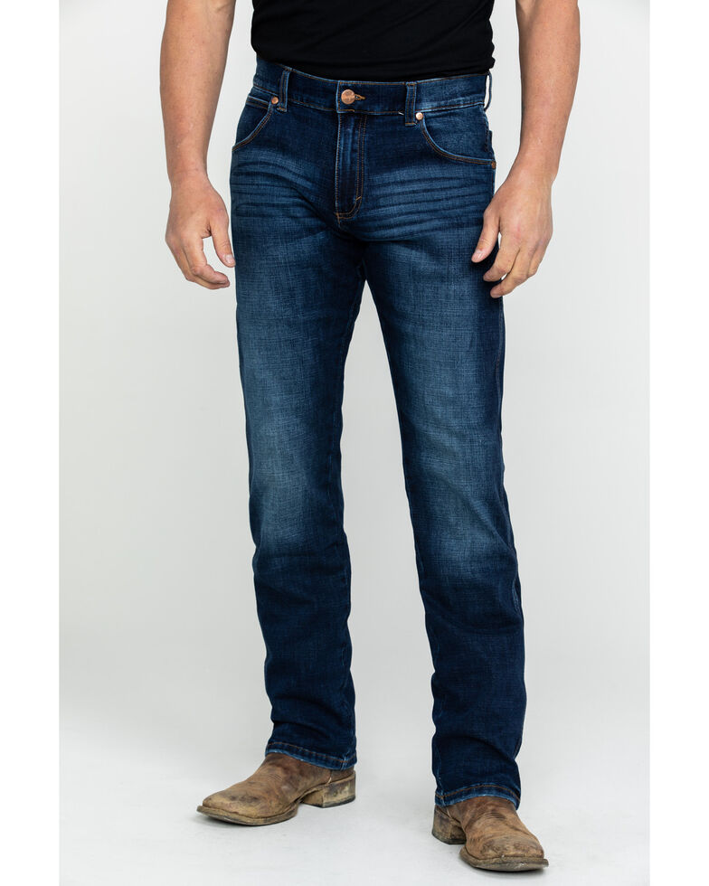 Wrangler Retro Men's Premium Slim Straight Jeans , Blue, hi-res