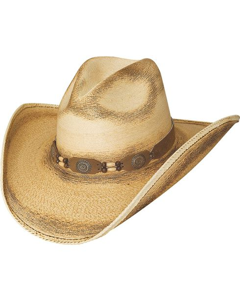 Bullhide Moonlight 20X Palm Leaf Straw Cowgirl Hat, Natural, hi-res