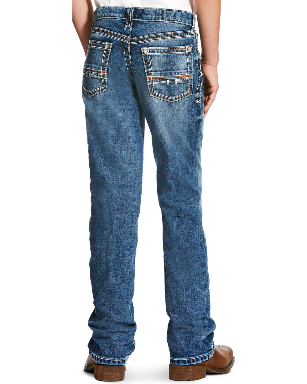 Ariat Boys' B4 Coltrane Durango Relaxed Jeans - Boot Cut , Indigo, hi-res